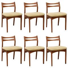 Set of Six Danish Dining Chairs by Christian Linneberg