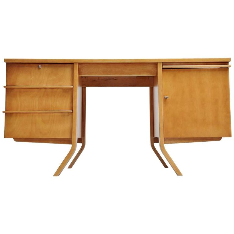 Pastoe EB04 Desk by Cees Braakman, Holland, 1952