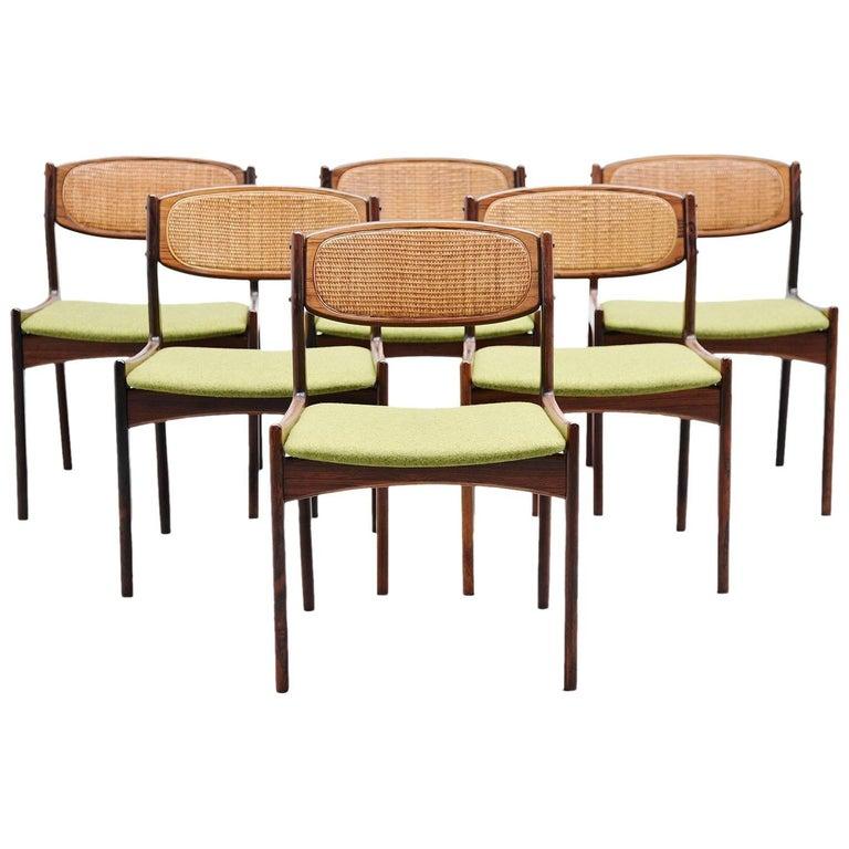 Ib Kofod Larsen Chairs by Christian Linneberg Denmark, 1960 For Sale