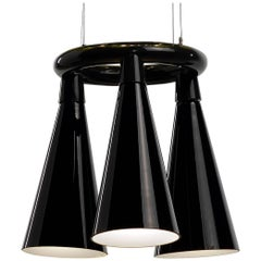 Komori R3 by Nendo, Chandelier Reminiscent of Bats, Murano Glass