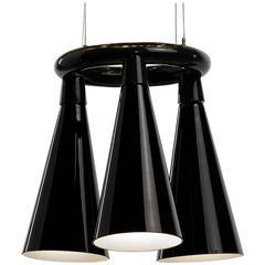 Komori R3 by Nendo, Chandelier Reminiscent of Bats, Murano Glass