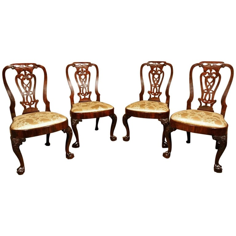 Exceptional Set of George III Irish Mahogany Dining Chairs, circa 1760