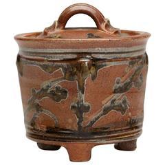 Jane Hamlyn Studio Pottery Lidded Jar, 20th Century