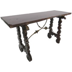 17th Century Baroque Walnut Console Table