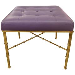Brass Faux Bamboo Bench