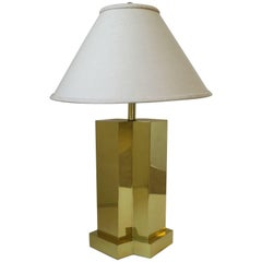 Modern Brass Desk or Table Lamp, 1970s