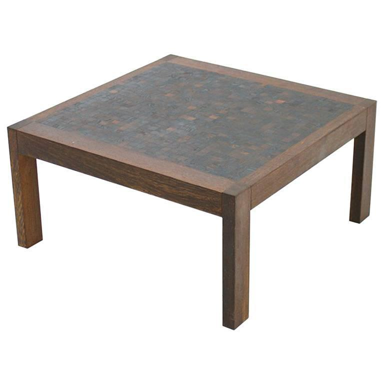Dieter waeckerlin mosaik coffee table in wenge switzerland 1960s for sale at 1stdibs Wenge coffee tables