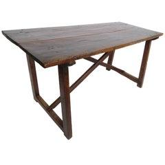 18th Century Walnut Saint Anthony Console Table