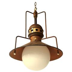 1960s Industrial Style Large Pendant , USA