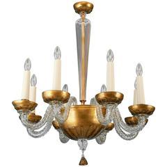 Exceptional Paolo Venini Murano Glass Chandelier, circa 1940
