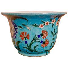 Théodore Deck Iznik Style Decoration Faience Flowerpot, circa 1880