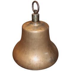 Antique Cast Brass Railroad Bell