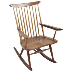 Walnut Spindle Rocker by George Nakashima