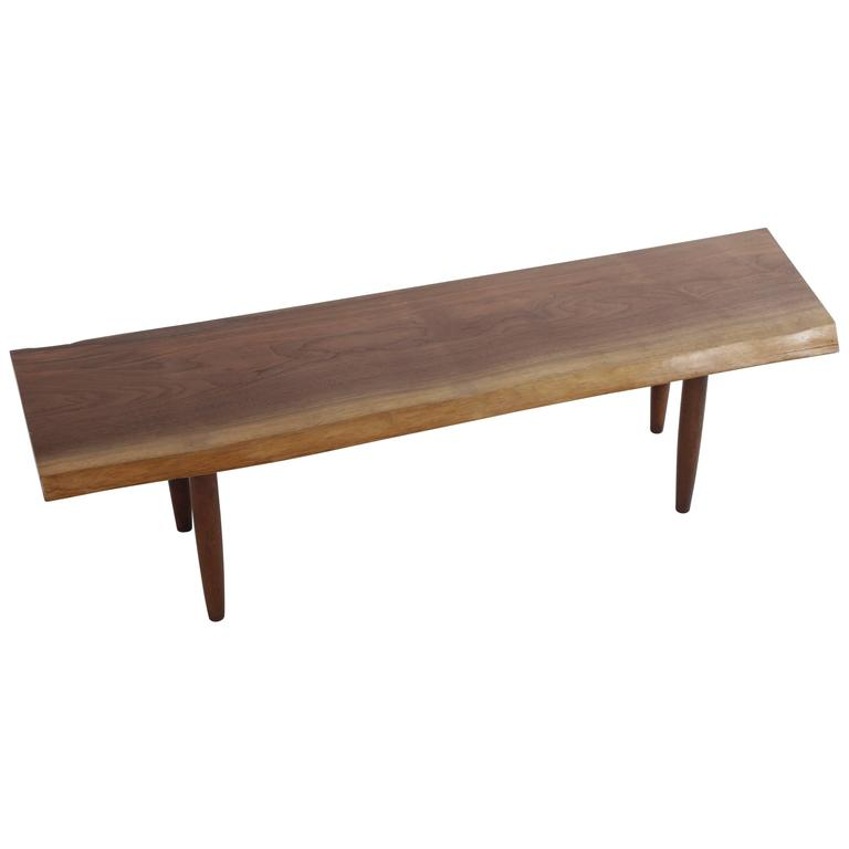 Walnut Q Bench by George Nakashima 1