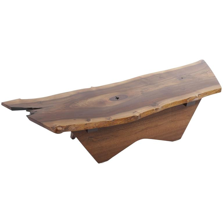 Walnut Butterfly Base Coffee Table by George Nakashima