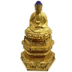 Japanese Giltwood Buddha
