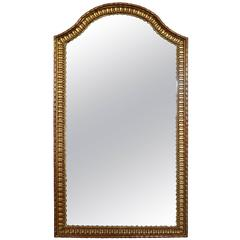 Italian Rococo Style Tall Carved Giltwood Mirror, Mid-19th Century