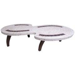Stylish Mid-Century Modern Mosaic Tile Coffee Table