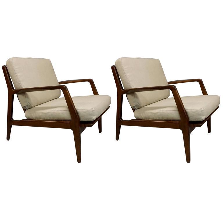 Ib Kofod-Larsen Pair of Lounge Chairs