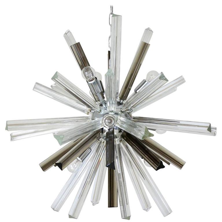 Italian Mid-Century Murano Glass Chandelier by Venini