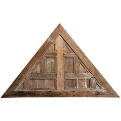 Pediment Wood Carving