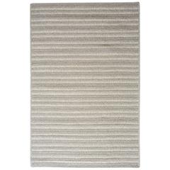 Cayo Natural Woven Wool Rug in Light Grey- Reversible, Custom made to order