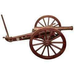 Handmade Replica of an 19th Century Napoleonic Cannon