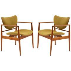 Pair of Finn Juhl 48 Armchairs