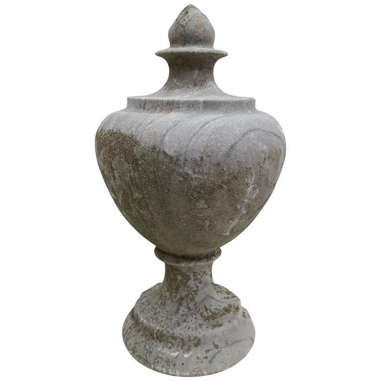 20th Century Antique Stone Pot Finial