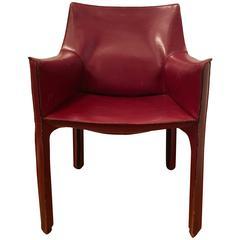 Mario Bellini Leather Cab Chair
