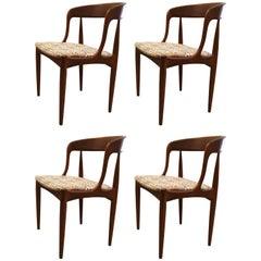 Set of Four Dining Chairs by Johannes Andersen for Uldum Møbelfabrik