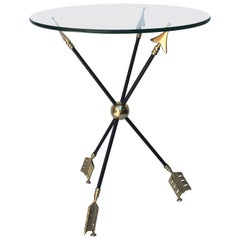 Brass and Iron Arrow Side Table