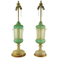Pair of Early 20th Century Murano Lamps