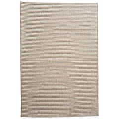 Pacha Natural Woven Wool Rug in Tan and Cream Custom Made in the USA
