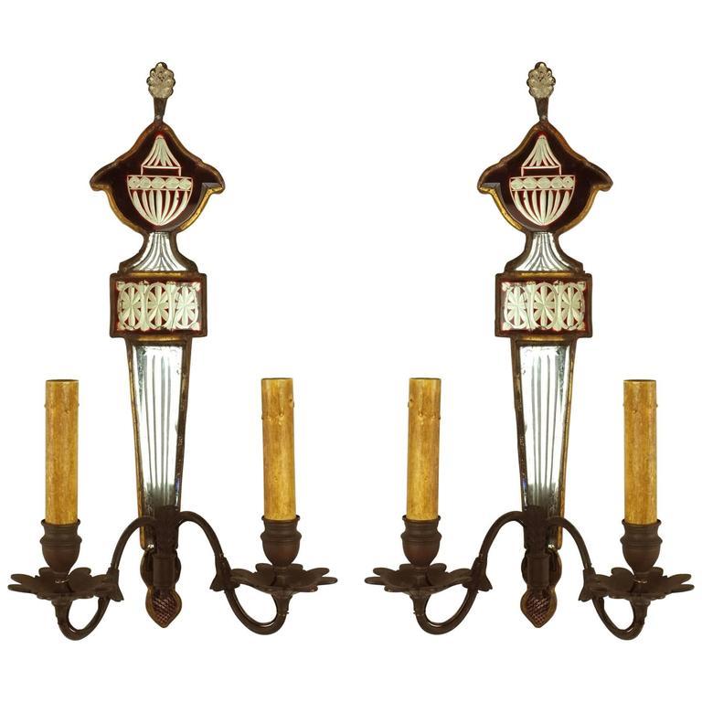 Pair of 19th Century English Regency Sconces