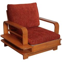 Art Deco Machine Age Russel Wright Conant Ball Asymmetric Lounge Chair
