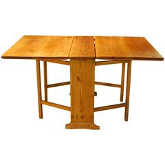 Antique Swedish Gate Leg Table, circa 1830 'Four Tables in One'