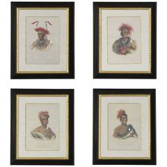 Set of Four American Indian Engravings by McKenney & Hall
