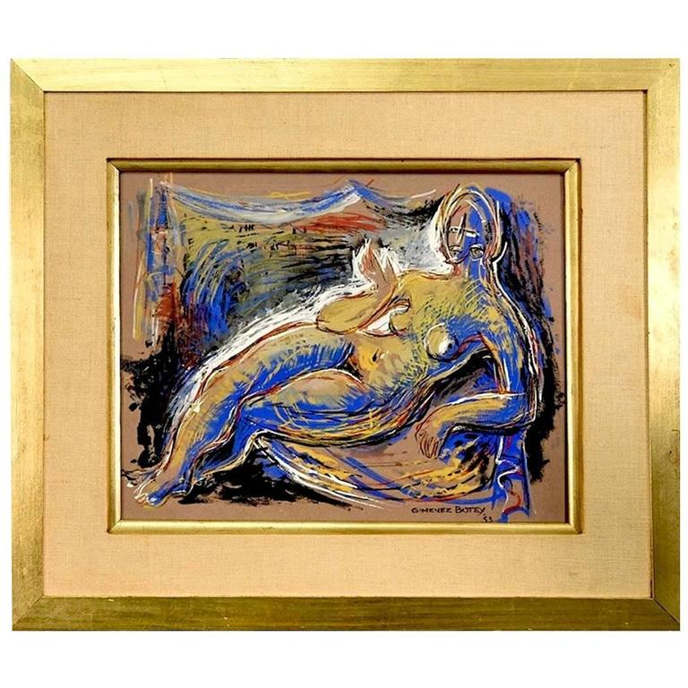 1950s Abstract Nude Painting by Josep Maria Gimenez Botey at 1stdibs