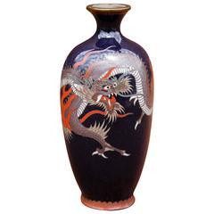 Cloisonne Cabinet Vase Meiji Period