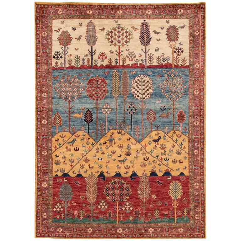 New Indian Gabbeh Style Rug For Sale At 1stdibs