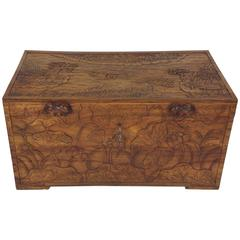 19th Century Chinese Carved Trunk