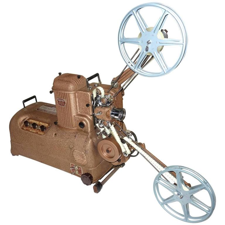 Cinema Projector, Fab Sculpture Display Movie Artifact, circa 1940s