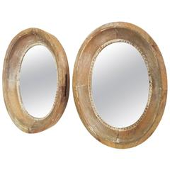 Set of Three 19th Century Oeil De Boeuf Mirrors