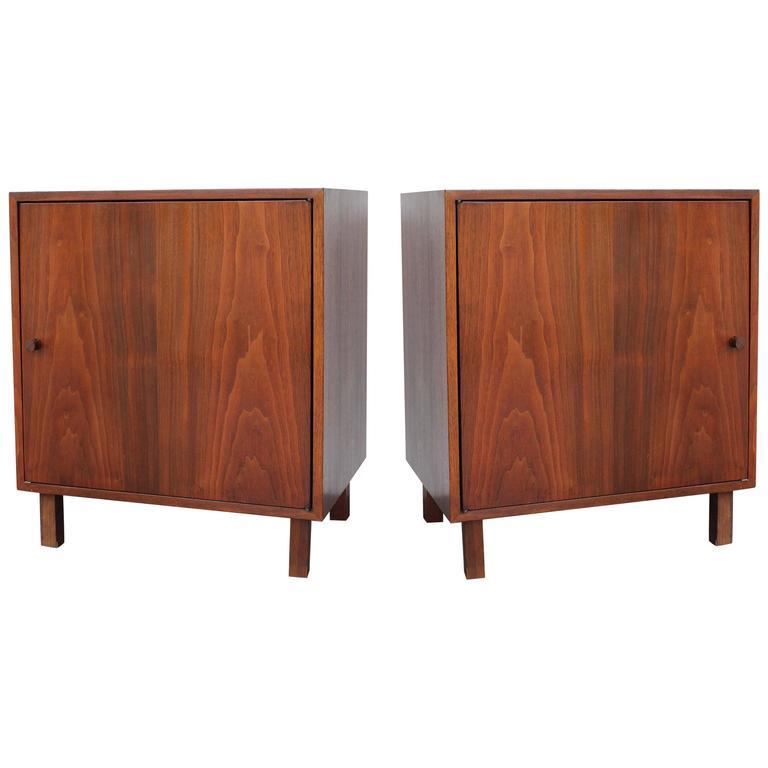 Pair of Danish Walnut Cabinets