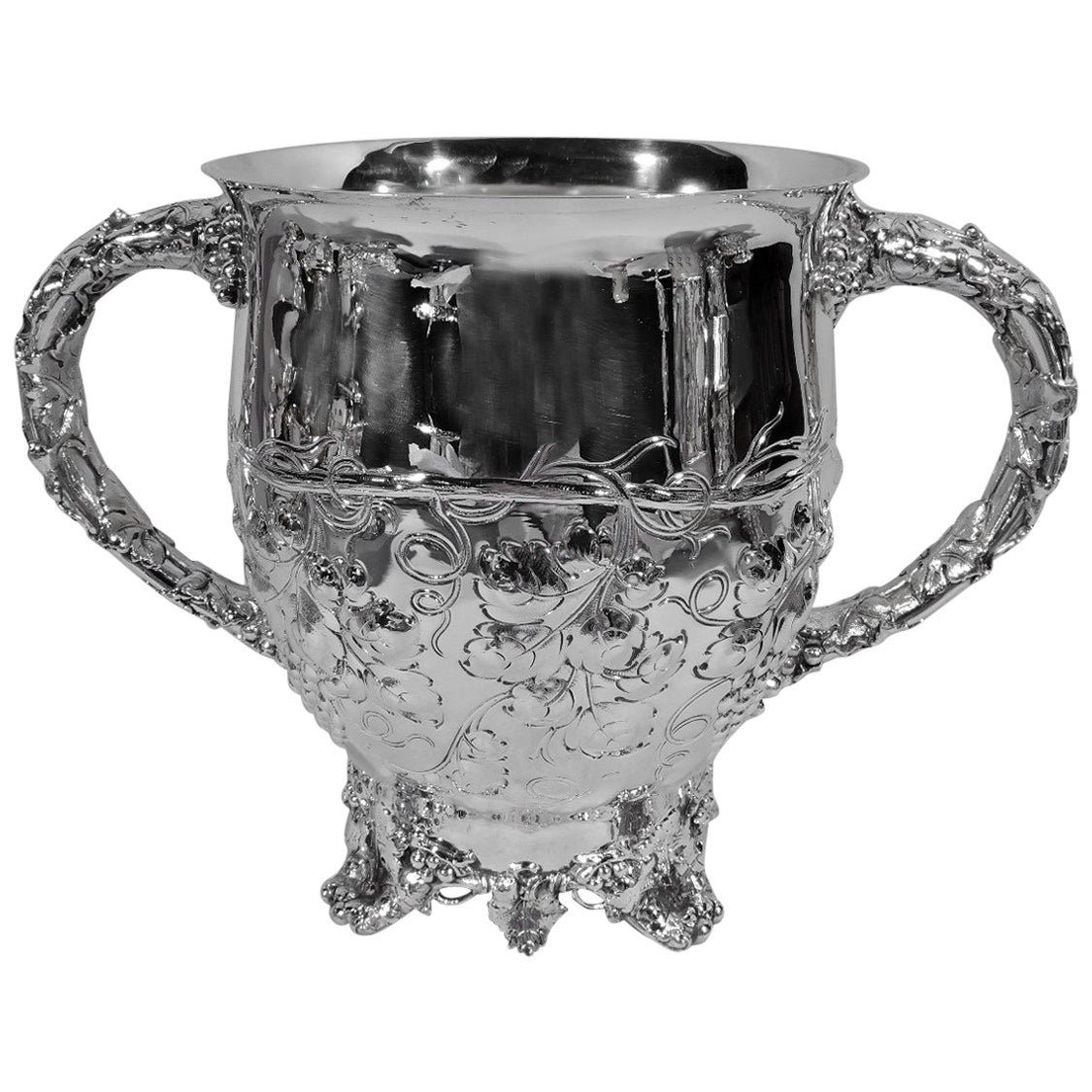 Antique American Sterling Silver Trophy Cup with Grapevine