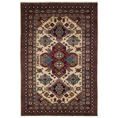 Ivory Kazak Style Area Rug