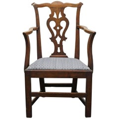 Handsome Chippendale Mahogany Armchair, Great Desk Chair