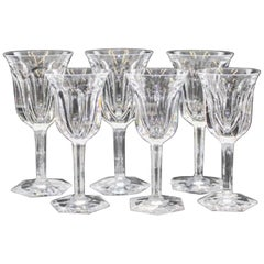Extensive Collection of Baccarat Cut Crystal Stemware, Red Wines and White Wines
