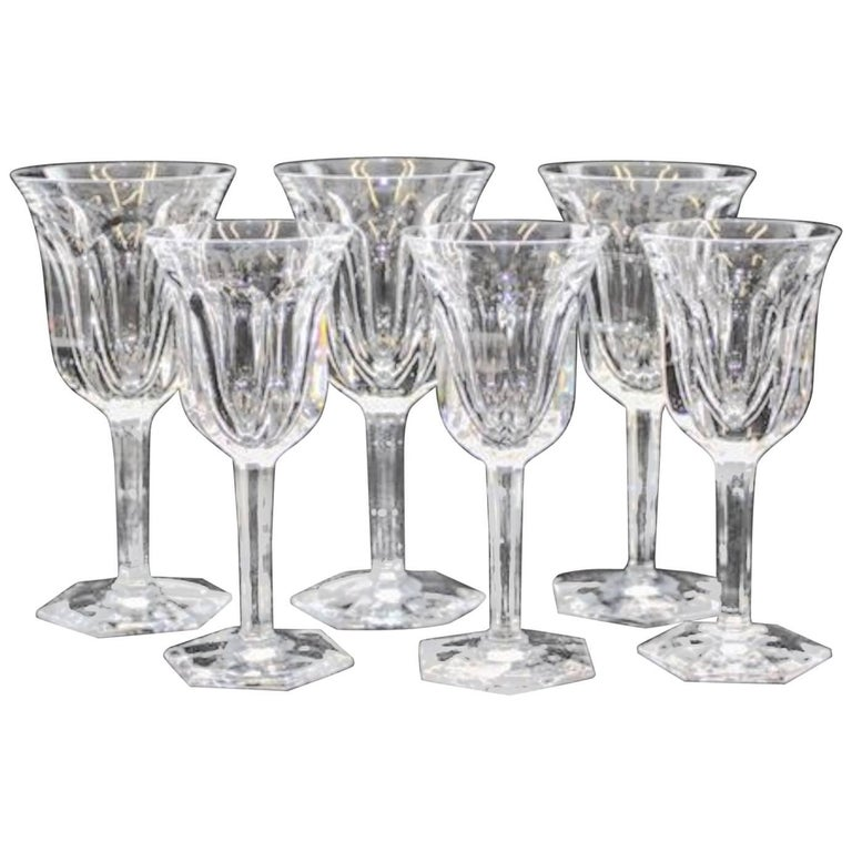 Baccarat cut-crystal stemware, 20th century, offered by Thomas Jolly Antiques